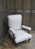 Antique Scottish Upholstered Reclining Armchair (3 of 8)