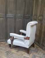 Antique Scottish Upholstered Reclining Armchair (5 of 8)