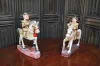 Pair of Chinese Painted Figures On Horseback (2 of 6)