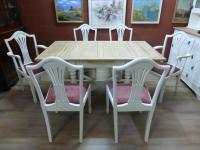 Stunning Painted Table & 6 Chairs c.1920 (2 of 11)