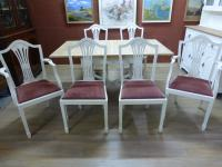 Stunning Painted Table & 6 Chairs c.1920 (7 of 11)