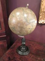 "19th Century French 10"" Plaster Terrestrial Globe"