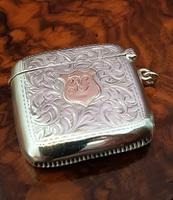 Fine George V Antique Silver & Gold Vesta Case