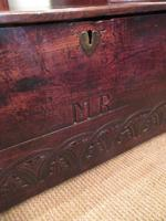Superb 17th Century Oak Carved Marriage Coffer (2 of 7)