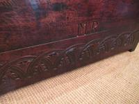 Superb 17th Century Oak Carved Marriage Coffer (3 of 7)