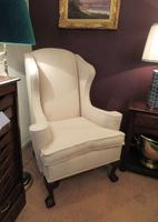 Antique George III Style Wing Back Armchair c.1890 (5 of 5)