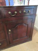 Superb Georgian Antique Oak Cupboard Dresser (4 of 11)