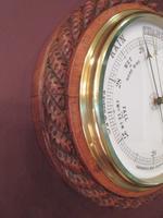 Large Victorian Antique Polished Oak Dumfries Barometer (3 of 6)