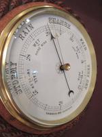 Large Victorian Antique Polished Oak Dumfries Barometer (2 of 6)
