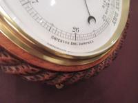 Large Victorian Antique Polished Oak Dumfries Barometer (5 of 6)