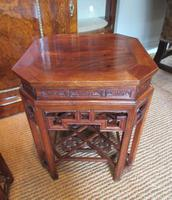 Superb Pair of Oriental Antique Lamp Tables (6 of 6)