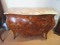 19th Century Antique Walnut Inlaid Bombe Fronted Chest (2 of 11)