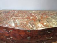 19th Century Antique Walnut Inlaid Bombe Fronted Chest (3 of 11)