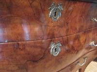 19th Century Antique Walnut Inlaid Bombe Fronted Chest (7 of 11)