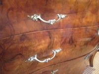 19th Century Antique Walnut Inlaid Bombe Fronted Chest (6 of 11)
