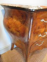 19th Century Antique Walnut Inlaid Bombe Fronted Chest (4 of 11)