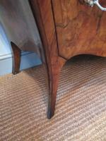 19th Century Antique Walnut Inlaid Bombe Fronted Chest (5 of 11)