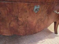 19th Century Antique Walnut Inlaid Bombe Fronted Chest (8 of 11)