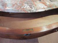 19th Century Antique Walnut Inlaid Bombe Fronted Chest (9 of 11)