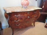 19th Century Antique Walnut Inlaid Bombe Fronted Chest (11 of 11)