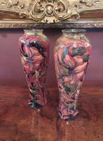 Superb Pair of Antique Moorcroft Spanish on Ochre Vases (7 of 7)