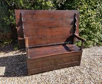 Superb George I Period Oak Settle Table c.1720 (9 of 9)