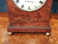 William IV Flame Mahogany Fusee Bracket Clock (2 of 5)