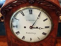 William IV Flame Mahogany Fusee Bracket Clock (3 of 5)