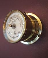 Victorian Antique Brass Bulkhead Marine Barometer (6 of 6)