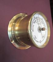 Victorian Antique Brass Bulkhead Marine Barometer (2 of 6)