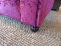 Very Comfortable Antique Upholstered Chesterfield Settee (6 of 7)