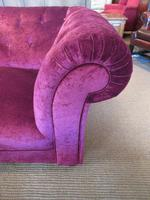 Very Comfortable Antique Upholstered Chesterfield Settee (5 of 7)