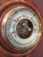 Small Antique Walnut Pendant Banjo Barometer (4 of 6)