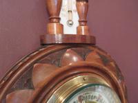 Small Antique Walnut Pendant Banjo Barometer (5 of 6)
