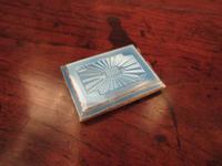 George V Silver & Pale Blue Enamel Card Case (6 of 6)