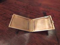 George V Silver & Pale Blue Enamel Card Case (3 of 6)