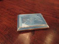 George V Silver & Pale Blue Enamel Card Case (2 of 6)