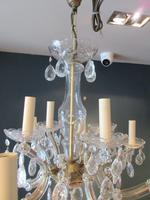 Antique Crystal Cut Glass Two Tier Chandelier (2 of 7)