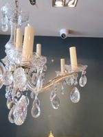 Antique Crystal Cut Glass Two Tier Chandelier (3 of 7)