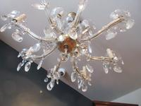 Antique Crystal Cut Glass Two Tier Chandelier (4 of 7)
