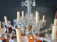 Antique Crystal Cut Glass Two Tier Chandelier (5 of 7)