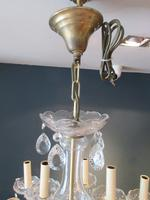 Antique Crystal Cut Glass Two Tier Chandelier (6 of 7)