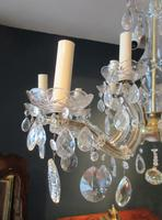 Antique Crystal Cut Glass Two Tier Chandelier (7 of 7)