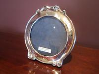 Edwardian Period Silver Circular Photo Frame