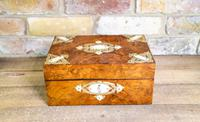 Burr Walnut Table Box c.1880