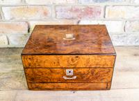 Burr Walnut Jewellery Box c.1860