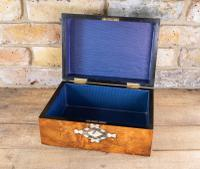 Burr Walnut Table Box c.1870 (6 of 7)
