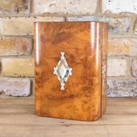 Burr Walnut Table Box c.1870 (7 of 7)