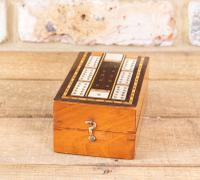 Mahogany & Rosewood Cribb Box c.1890