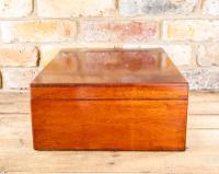 Large Mahogany Storage Box c.1850 (2 of 8)